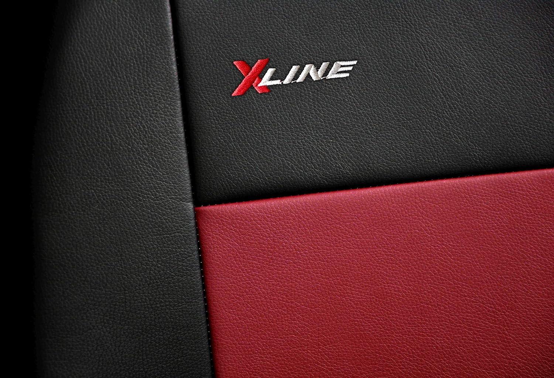 Housses Si/ège Auto Avant Voiture Universelle avec Airbag Syst/ème X-Line Rouge