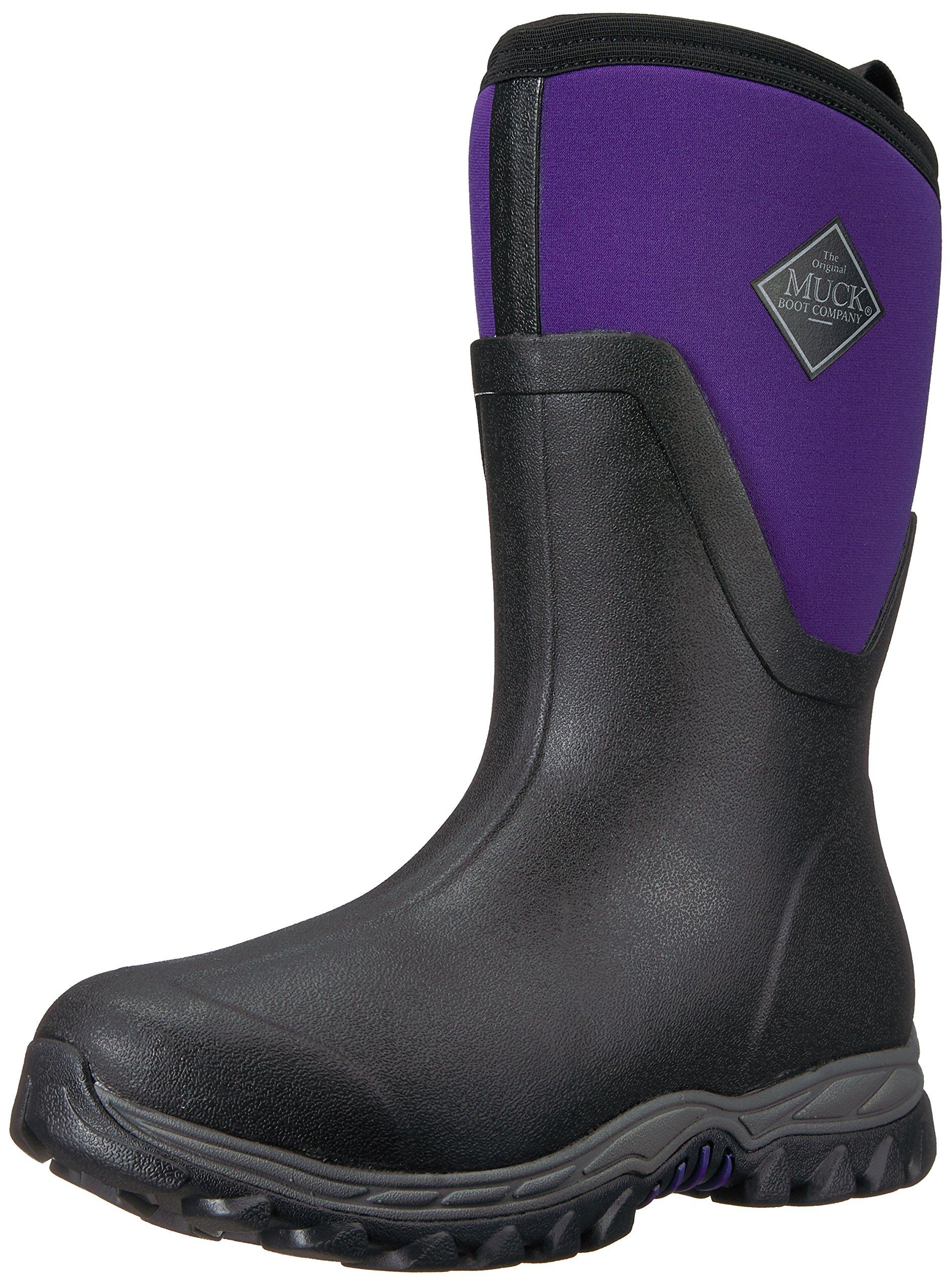 Muck Boot Women's Arctic Sport II Mid Snow Boot, Black/Parachute Purple, 9 B US