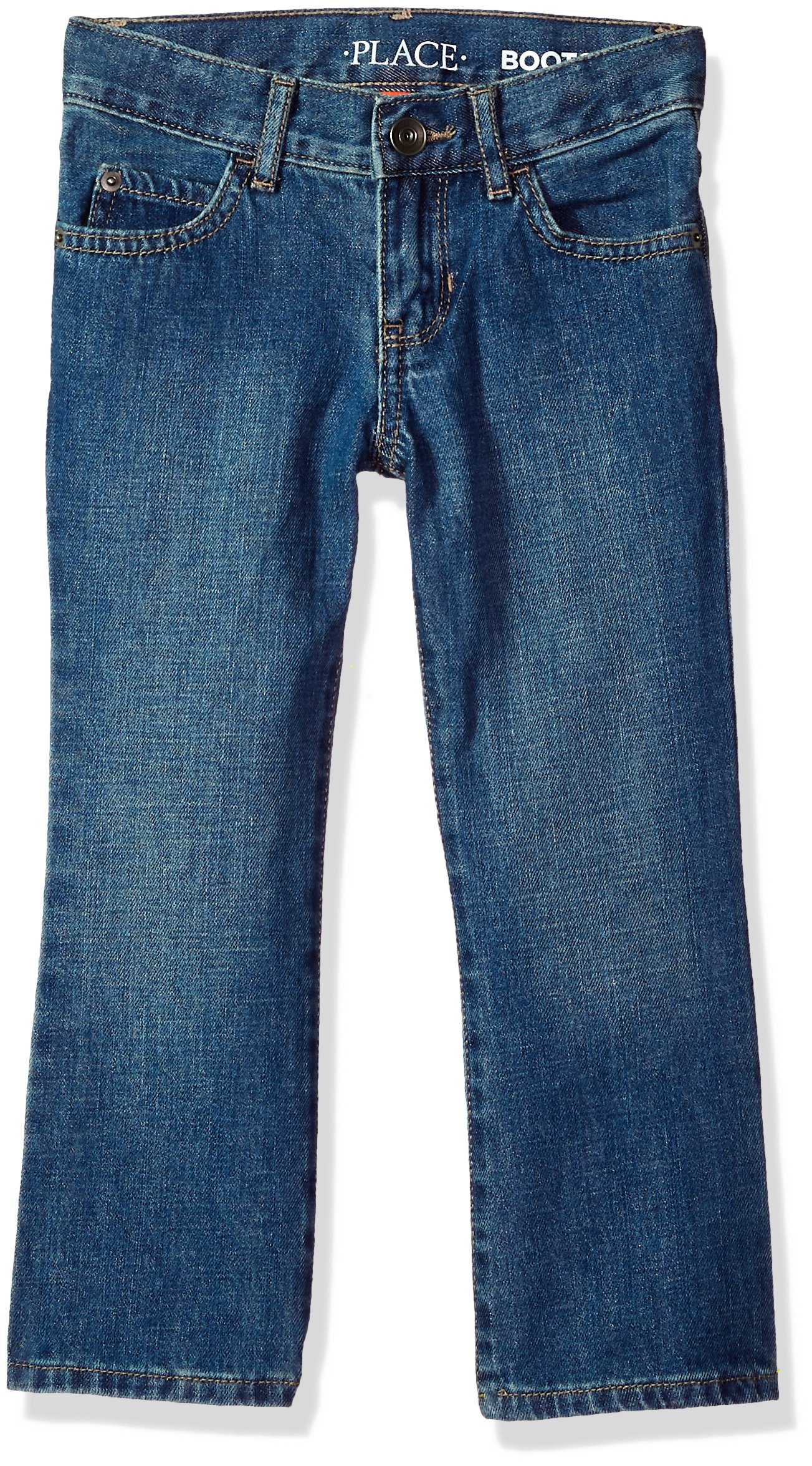 ab18f123762 Galleon - The Children's Place Big Boys' Bootcut Jeans, Med Indigo 3281, 5