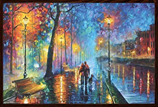 product image for Frame USA Melody of The Night by Leonid Afremov Poster (Architect Walnut Frame)(36x24)