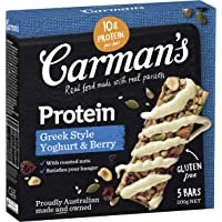 Carman's Gourmet Protein Bar Greek Style Yoghurt & Berry, 5-Pack (200 g)