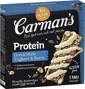 Carman's Gourmet Protein Bar Greek Style Yoghurt & Berry, 5-Pack (200 g)