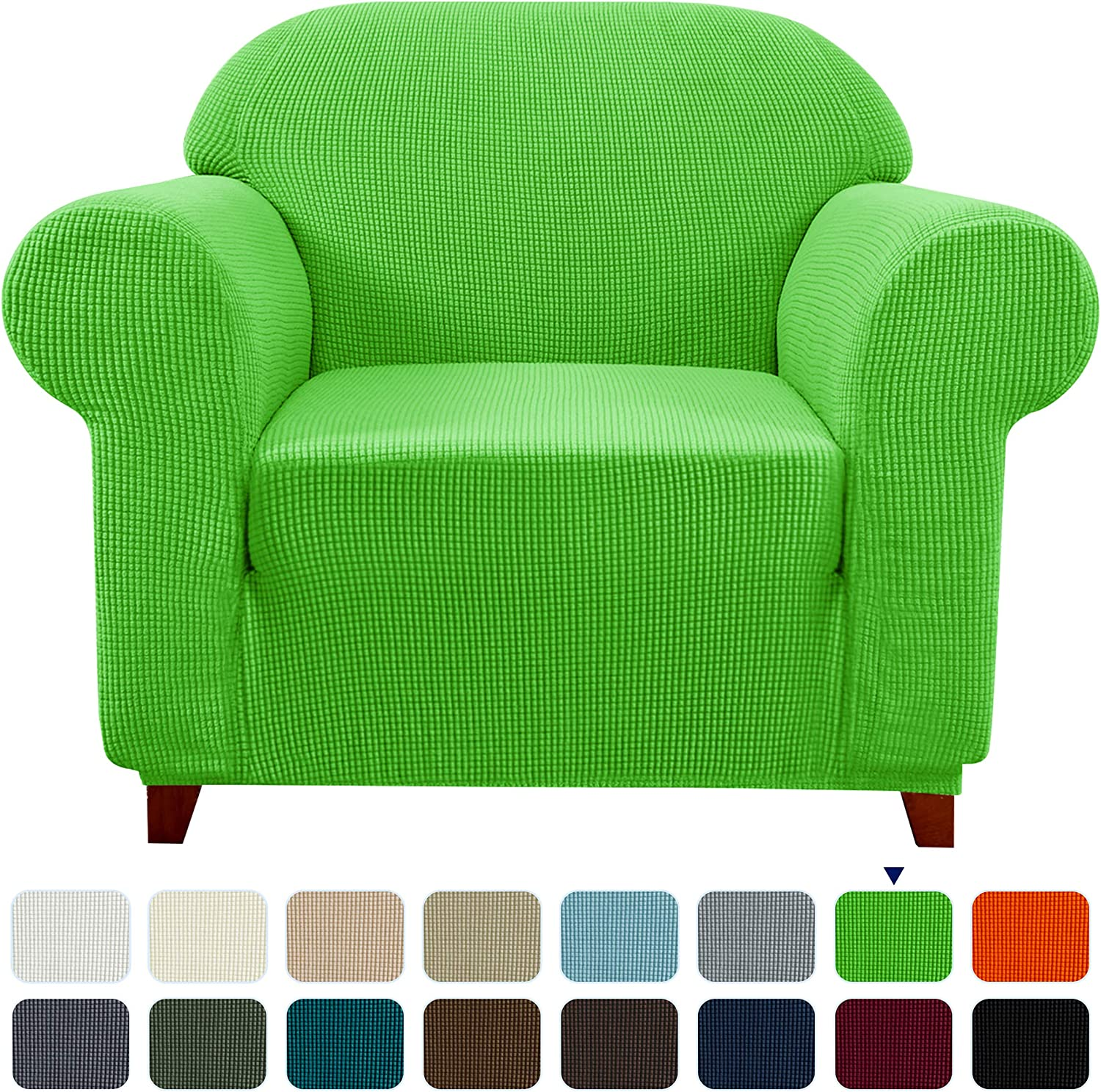 subrtex Stretch Sofa Cover 1 Piece Couch Slipcover Furniture Protector for Arm Chair Loveseat Coat Soft with Elastic Bottom, Polyester and Spandex