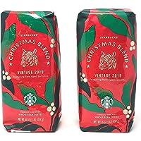 Starbucks Christmas Blend Vintage 2019 Whole Bean Coffee - Pack of 2 Bags - 32 oz Total - Dark Roast - Featuring Rare Aged Sumatra Beans - Arabica Coffee