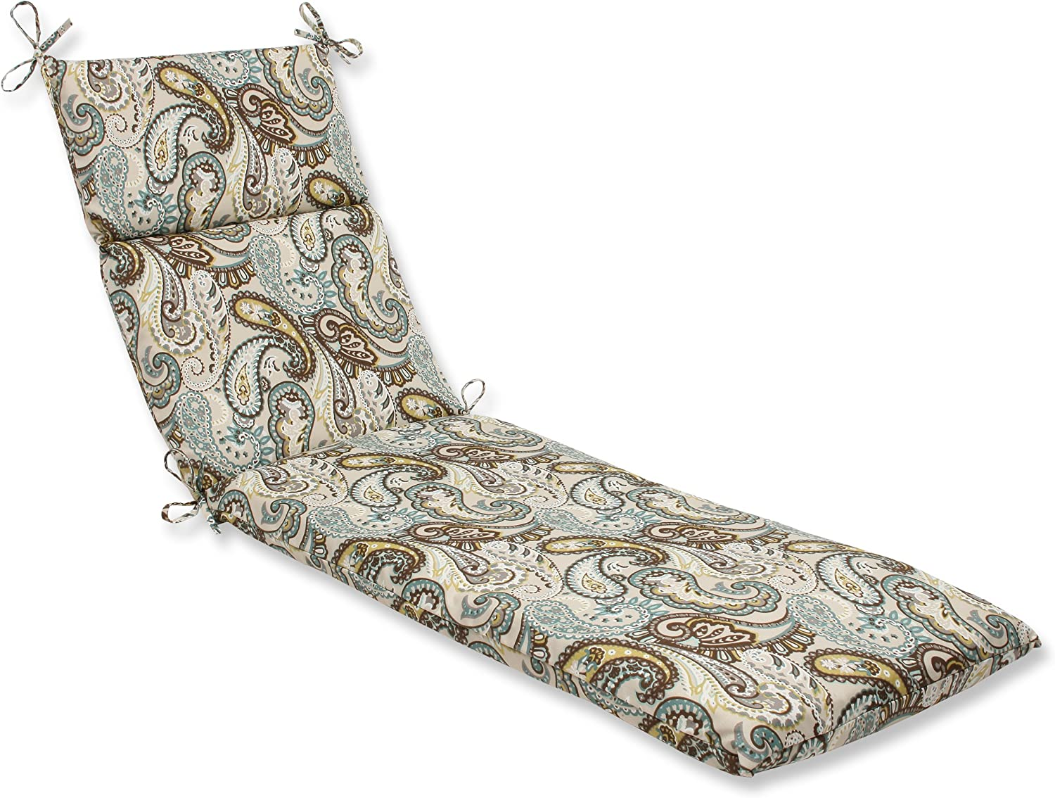 Pillow Perfect Outdoor Tamara Paisley Quartz Chaise Lounge Cushion