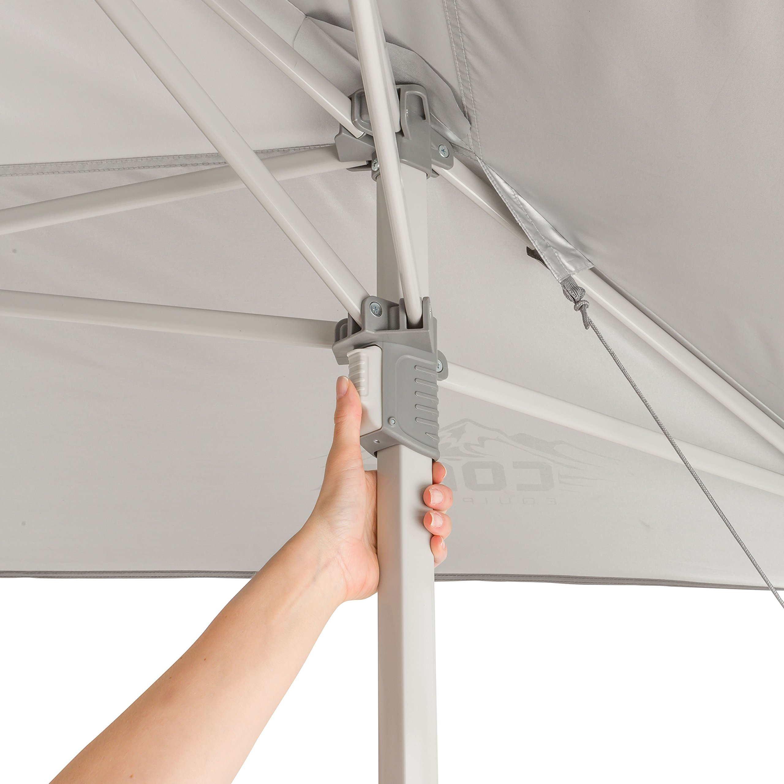 CORE 13' x 13' Instant Shelter Pop Up Canopy Gazebo Tent for Shade in Backyard, Party, Event with Wheeled Carry Bag, Gray by CORE (Image #5)