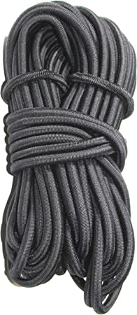 "50ft 1//2/"" Black Bungee Cord Marine Grade Heavy Duty Shock Rope Tie Down Stretch"