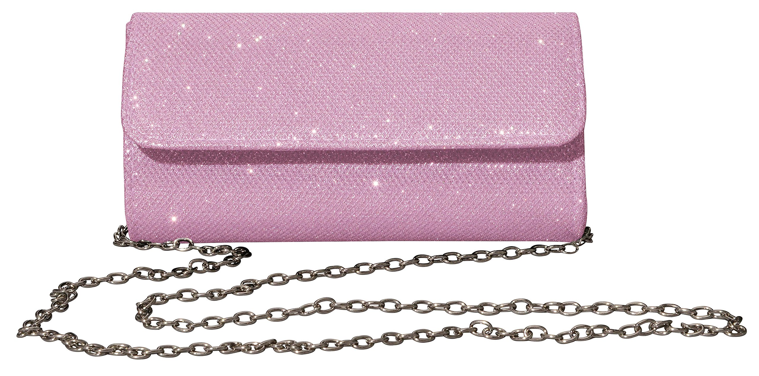 Outrip Women's Evening Bag Clutch Purse Glitter Party Wedding Handbag with Chain (Pink)