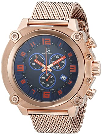 da77c30fb3d Image Unavailable. Image not available for. Color  Joshua   Sons Men s  JS58RG Rose Gold Multifunction Swiss ...