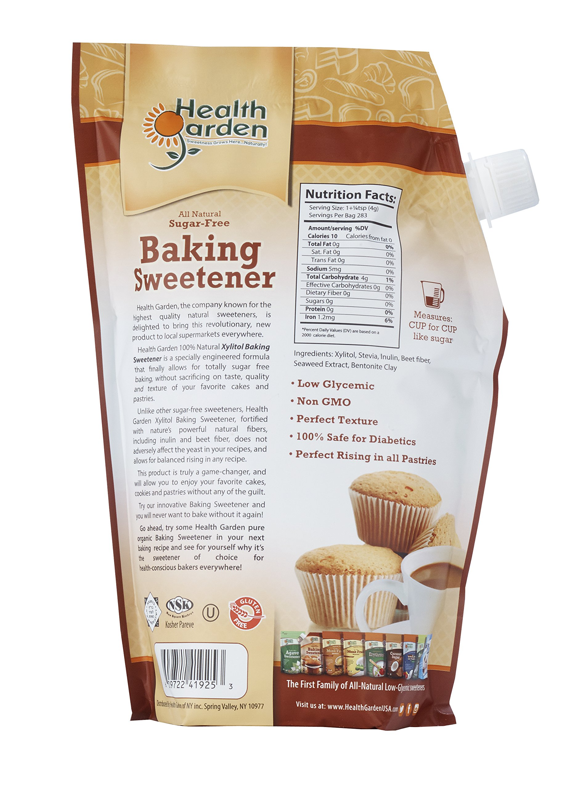 Sugar Free Xylitol Baking Sweetener, All Natural, Non GMO Sugar Replacement - 35 oz. - By Health Garden by Health Garden (Image #2)
