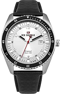 Wb021tb Ben Uhr Mit Sherman Leder Armband Analog Quarz Herren T13lJcFK