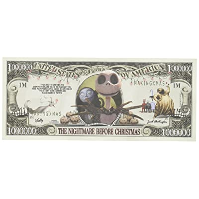 Lot of 5 Nightmare Before Christmas Million Dollar Bill by The Cyber Mart Store: Toys & Games