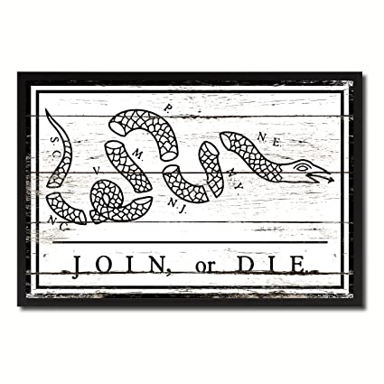 Amazon.com: US Join or Die Snake Colonial Revolutionary War White ...