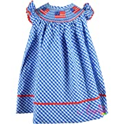 7513e8399d6a Boutique Clothing Girls USA America Flag Red White Blue Classic Bishop  Dress 12-18M