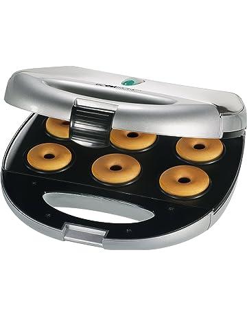 Clatronic DM 3127 - Máquina para hacer rosquillas (6 moldes), color plateado