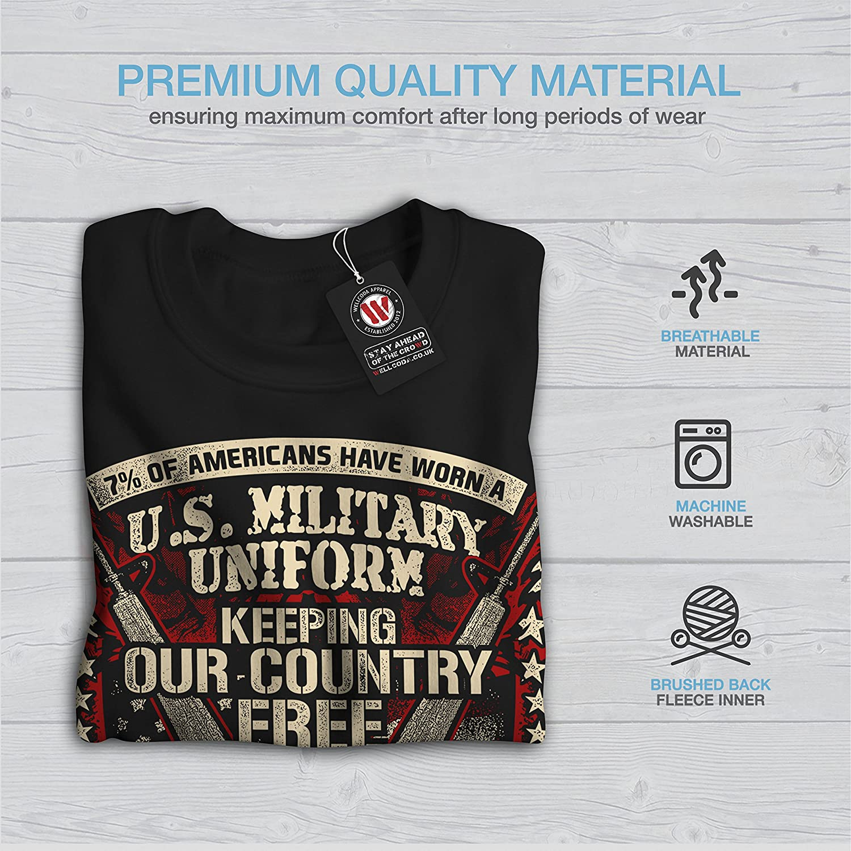 Army America Casual Jumper wellcoda USA Military Mens Sweatshirt