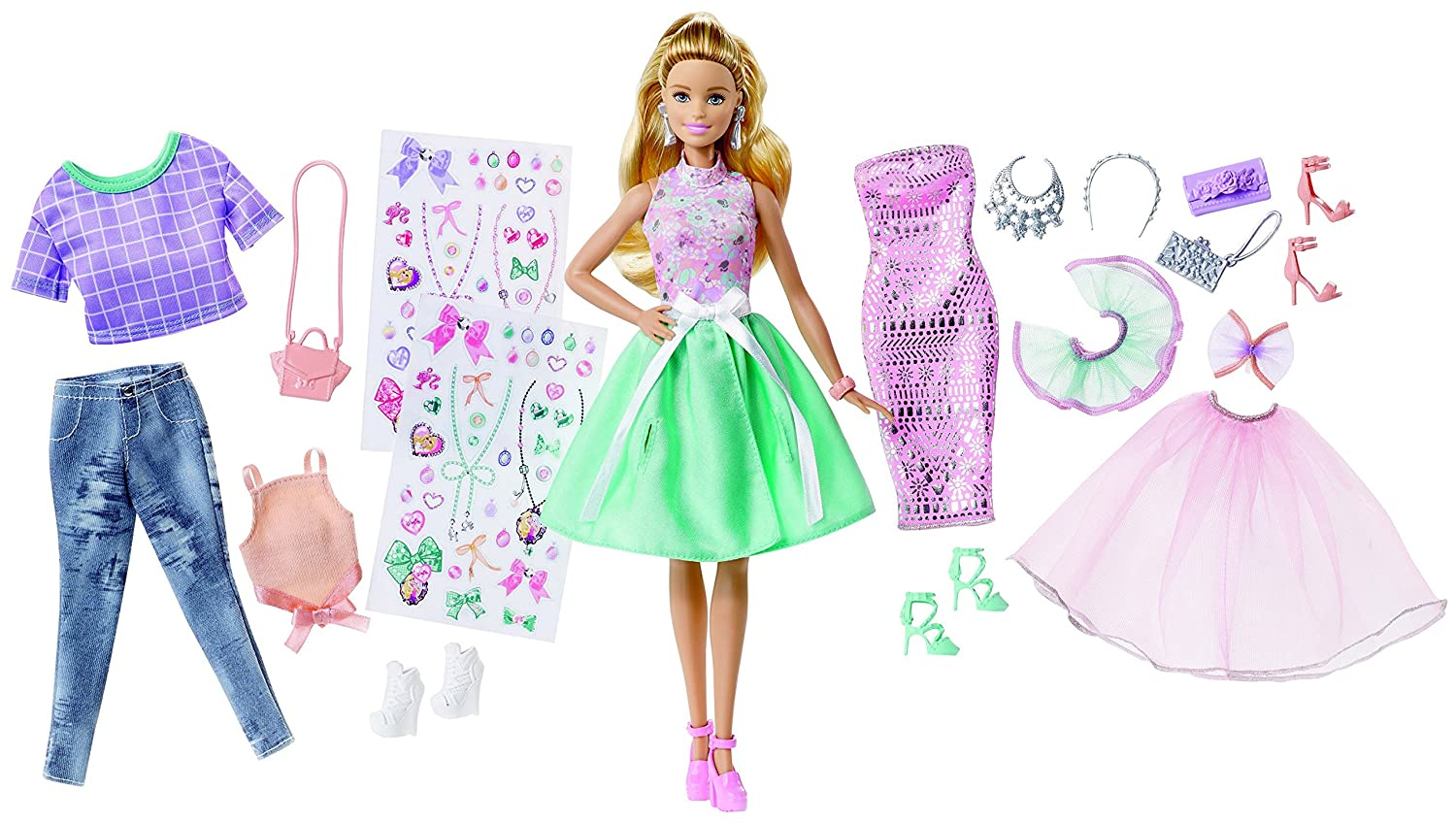 Buy Barbie Fashion Activity Giftset Multi Color Online At Low Prices In India Amazon In