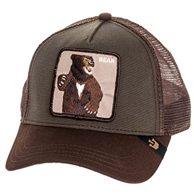 234dc427 Amazon.com: Goorin Bros Mens Lone Star Bear Patch Trucker Cap Hat (Olive):  Clothing
