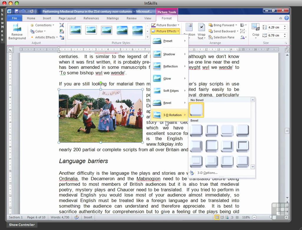 Microsoft Word 2010 [Online Code] by Infiniteskills