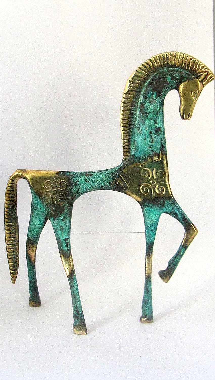 Grec Ancien bronze Mus/ée Statue R/éplique de Cheval de g/éom/étrique Era 122