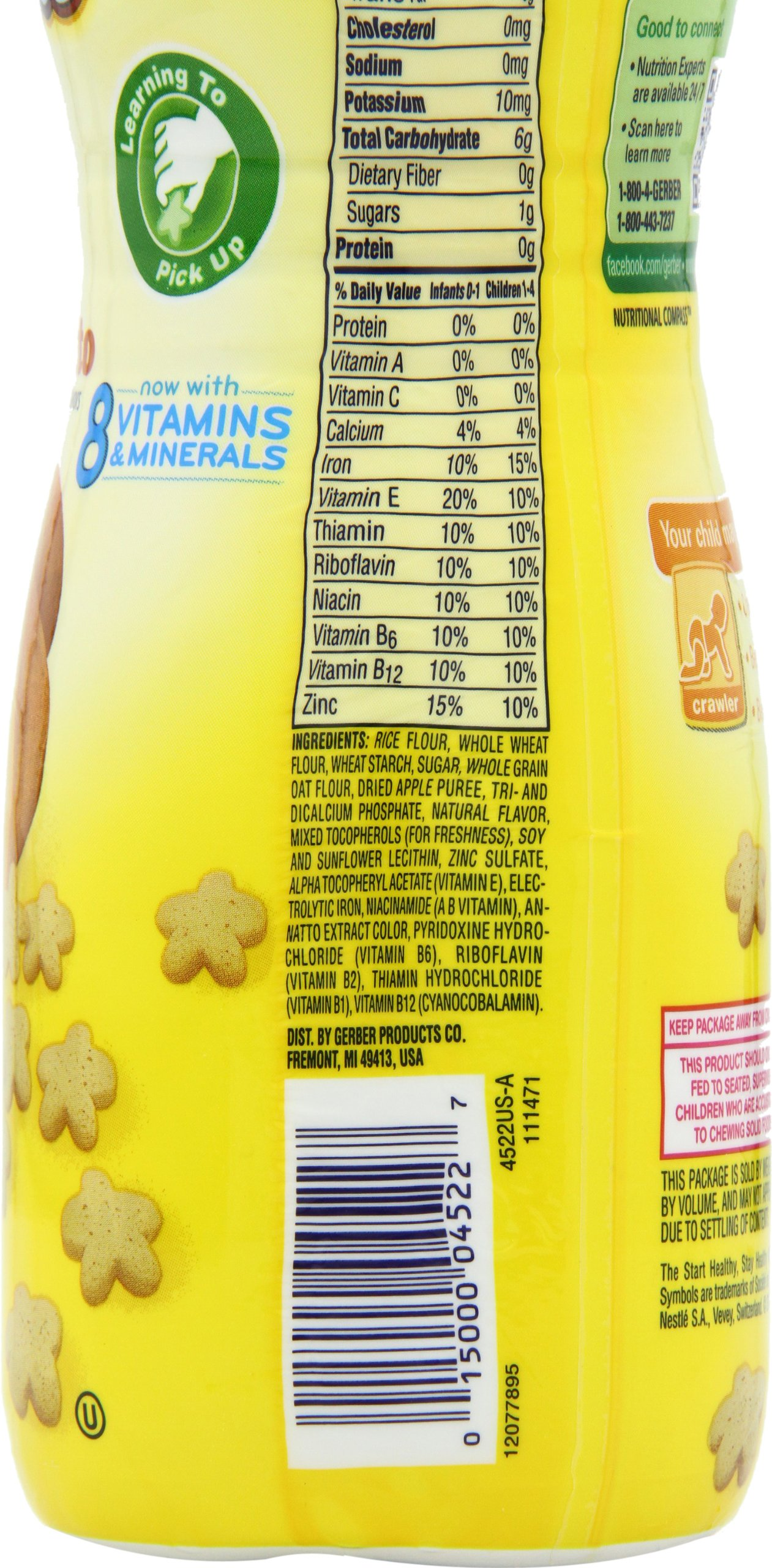 Gerber Graduates Puffs Cereal Snack Sweet Potato Naturally Puff Strawberry Apple 42 Gram Flavored With Other Natural Flavors 148 Ounce 6 Count