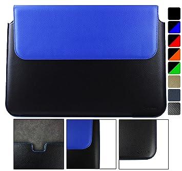 Emartbuy Lenovo Yoga 910 14 Pulgada Ultrabook Negro/Azul PU Cuero Magnético Carcasa Wallet Case Cover Cubrir Sleeve (13.3 to 14 Pulgada)