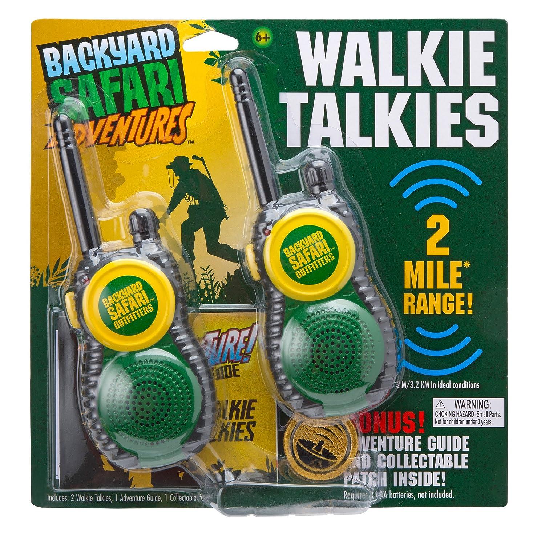 amazon com backyard safari walkie talkies toys u0026 games