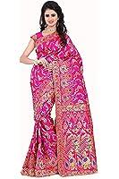 Vatsla Enterprise Women's Heavy Silk Saree With Blouse Piece