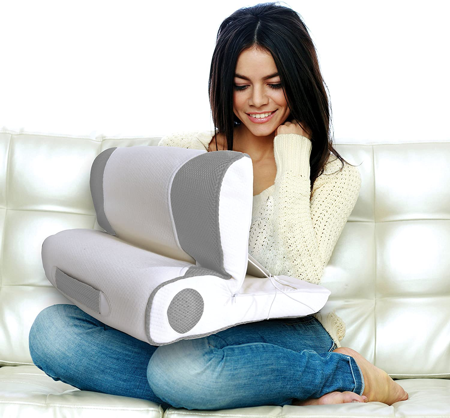 Perfect Fit Wellrest Digital iPad Tablet Pillow Gray Perfect Fit Industries 038533848318