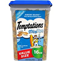 Deals on Temptations MixUps Crunchy and Soft Cat Treats 16 oz.