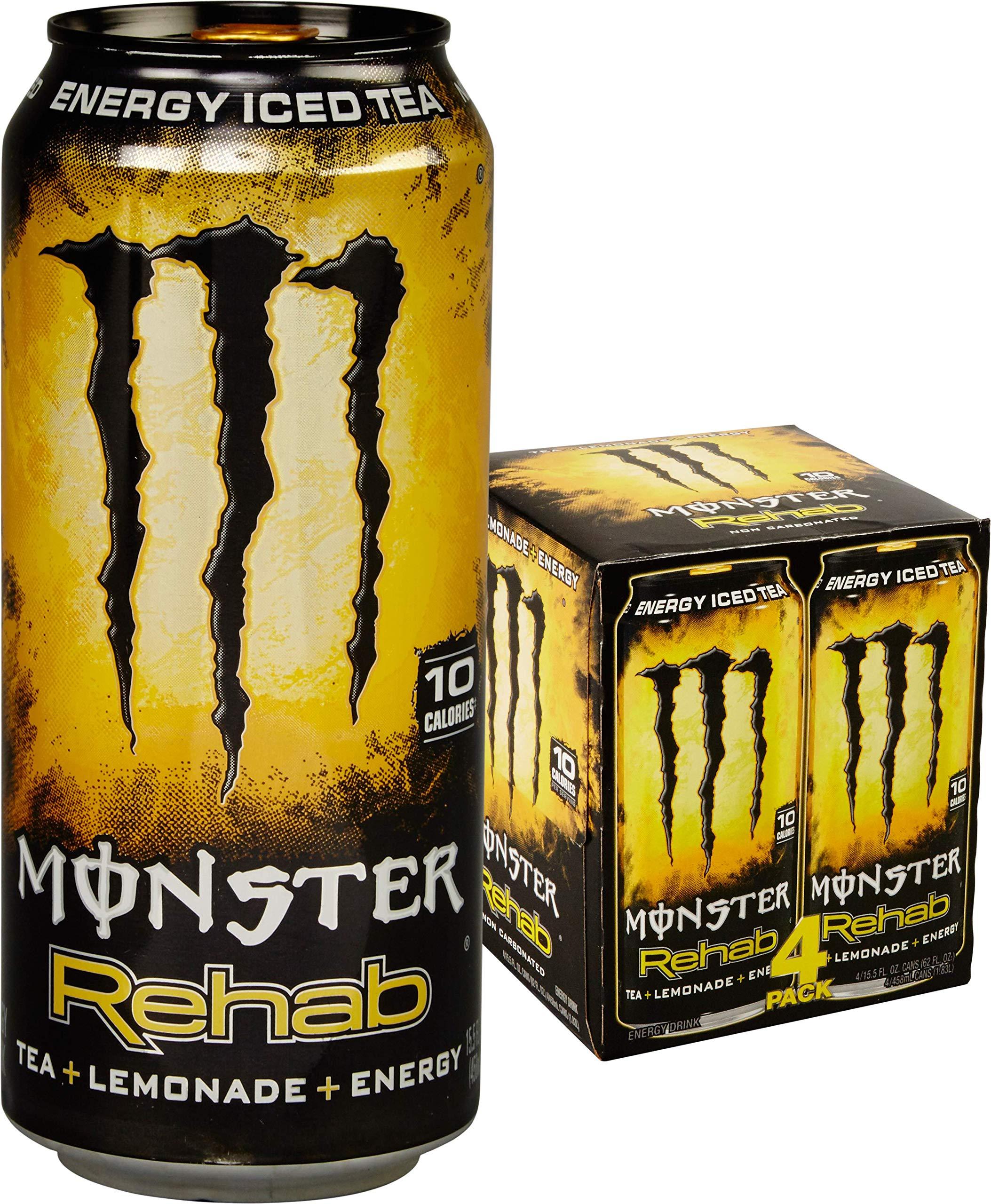 Monster Rehab, Tea + Lemonade, 15.5 fl oz, 4 Pack