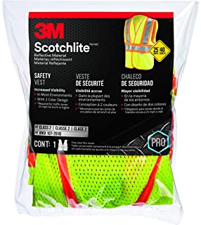 3M 94620-80030 Class 2 Two-Tone Construction Safety Vest with Reflective Clothing,