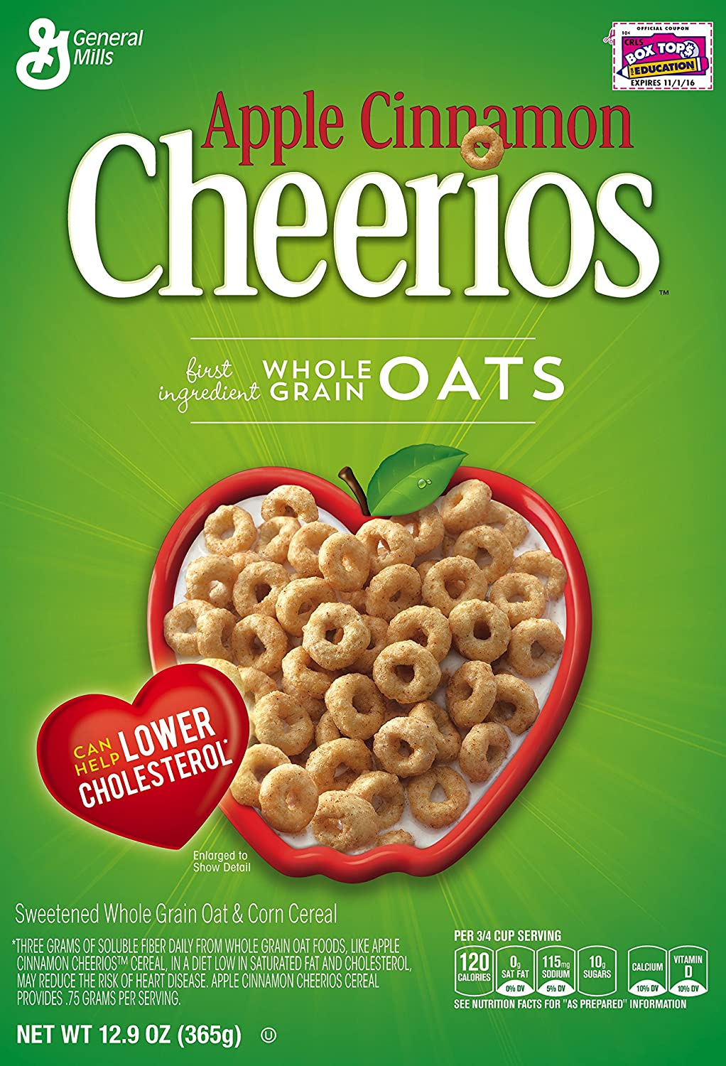 Amazon.com: Apple Cinnamon Cheerios Cereal, 12.9 Ounce (Pack of 4): Cold Breakfast Cereals