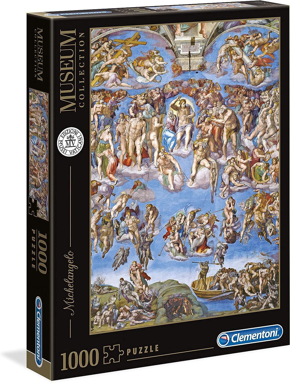 Clementoni- Puzzle 1000 Piezas Museos Michelangelo: Juicio Universal, Multicolor (39497.5): Amazon.es: Juguetes y juegos