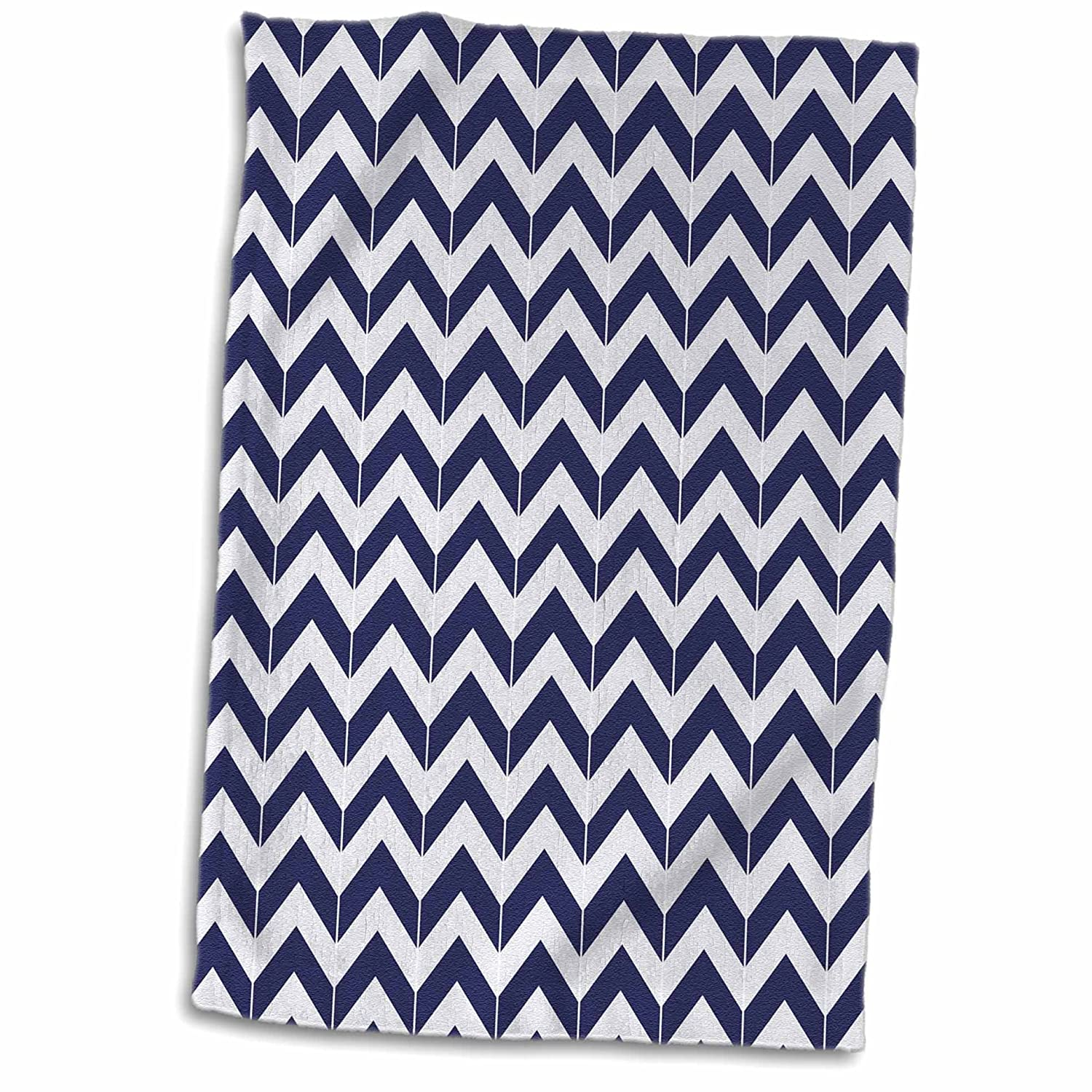 3D Rose Navy Blue and White Nautical Rope Design TWL_212475_1 Towel 15' x 22' Multicolor