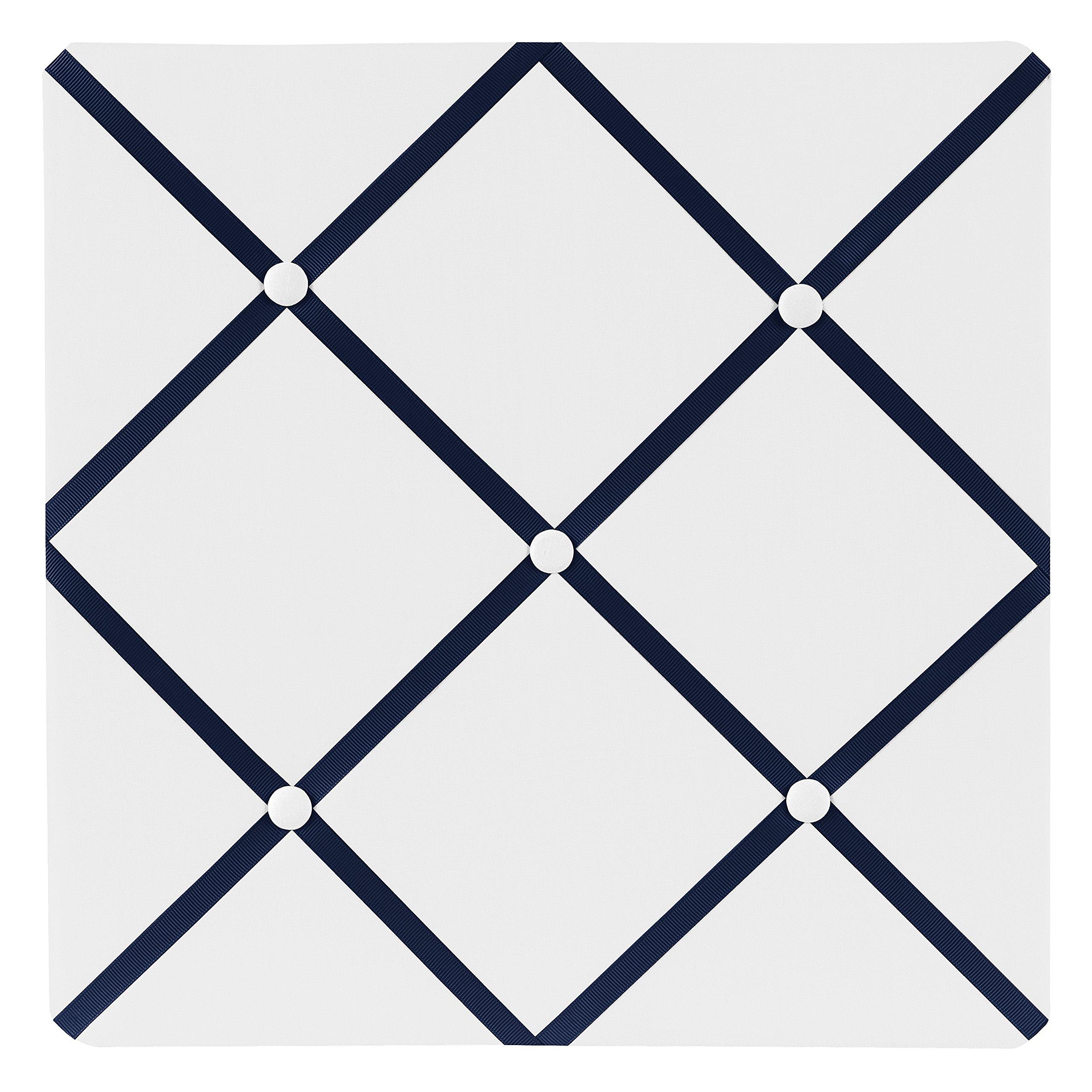Sweet Jojo Designs Anchors Away Nautical Navy and White Fabric Memory/Memo Photo Bulletin Board