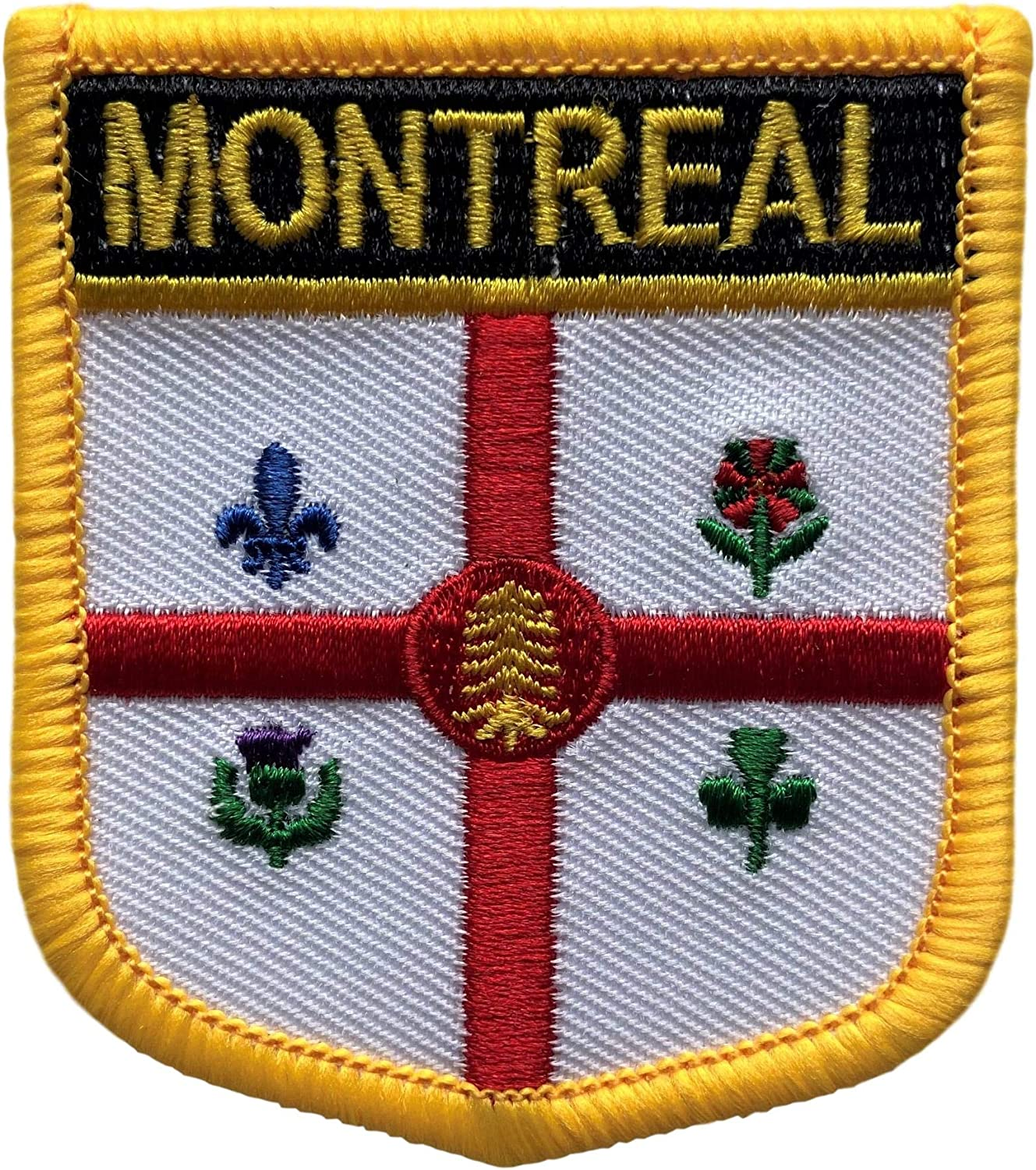 Montreal City Flag Patch Badge Embroidered Iron On Applique