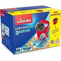 Vileda SuperMocio Pack Special - 1 tête de Balai 3Action + 2 têtes Microfibre Power