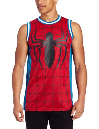4889e0419c03 Spiderman Men s Marvel Parks Basketball Jersey Shirt at Amazon Men s  Clothing store  Tank Top And Cami Shirts