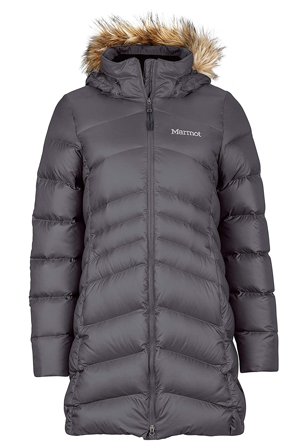 Marmot Montreal Women's Knee-Length Down Puffer Coat Marmot Mountain B000BDGXKC-P