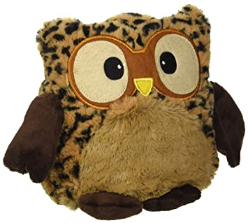 Warmies Hooty Owl Plush Thermal Leopard