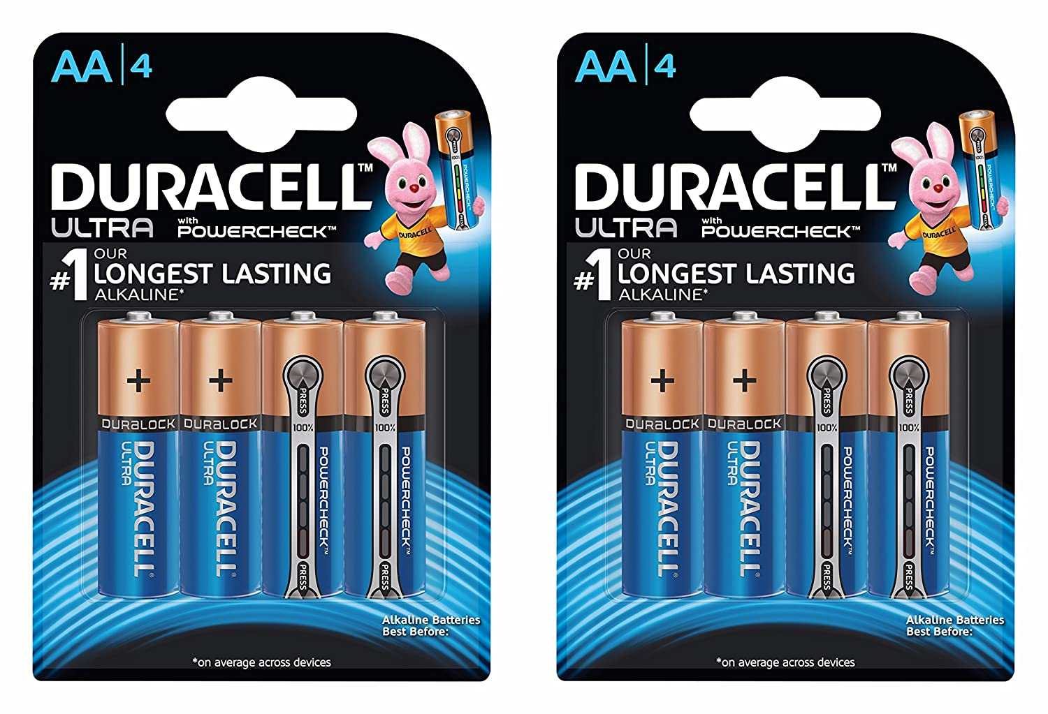 Duracell Ultra AA Battery with Duralock Technology - 2 Pieces