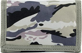Boys Camoflage WALLET 13cm x 9cm closed  NEW canvas khaki beige brown style 1