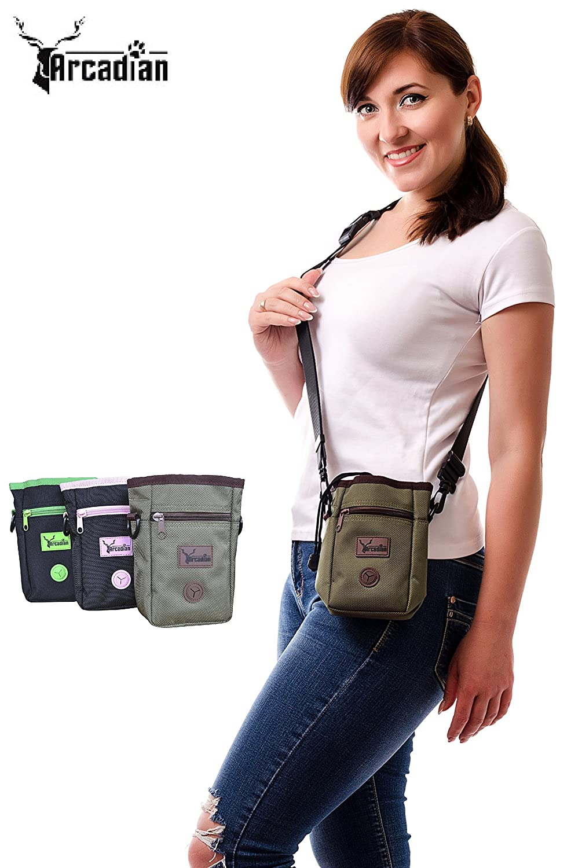 Arcadian Premium Hundeleckerli-Tasche verstellbarem Taillengü rte Arcadian Supplies