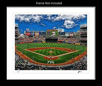 Amazon.com: Ombura New York Yankees Wall Art Print. Home Décor ...