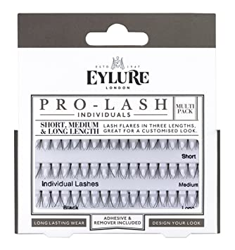 e67b9b368a8 Eylure Pro Lash Individuals Combo for short, medium and long, Knot Free