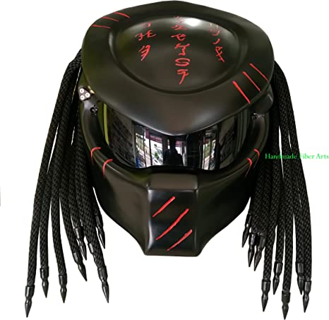 Helmet Art Thai Hat 67 Custom Predator Casco de Motocicleta.: Amazon.es: Deportes y aire libre