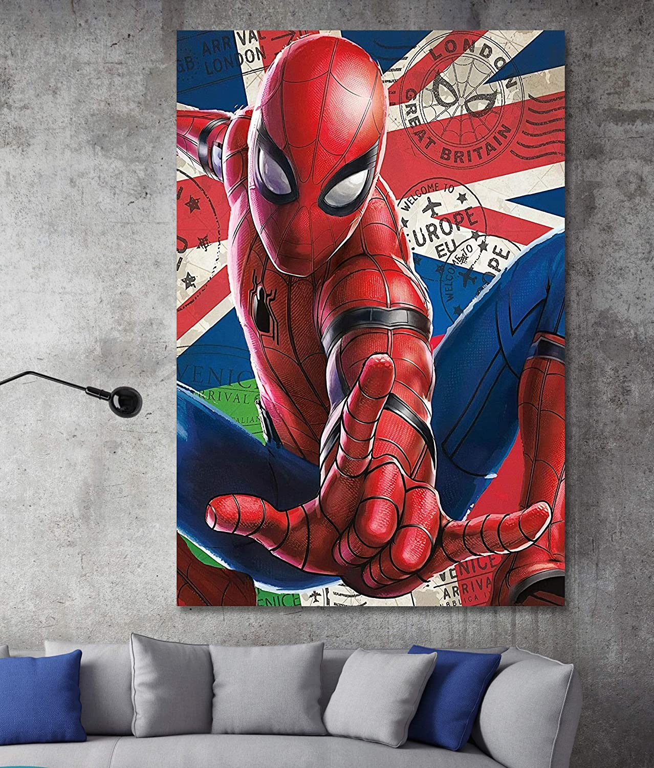 Amazon.com: Spider Man Far From Home Movie Box Framed Canvas ...