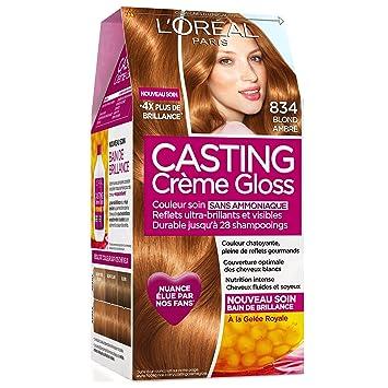 casting crme gloss ton sur ton coloration sans ammoniaque 834 blond ambr - Coloration Ton Sur Ton Blond