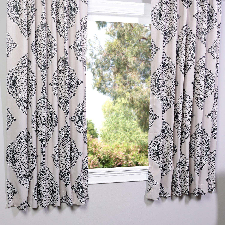 63 Half Price Drapes BOCH-KC27B-63 Blackout Curtain Henna Black 63 Exclusive Fabrics /& Furnishings